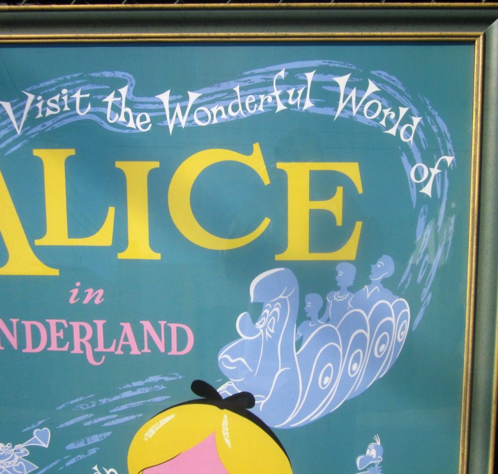 Alice In Wonderland Disneyland Attraction Poster 3