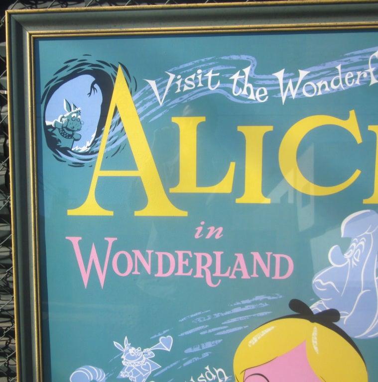 Alice In Wonderland Disneyland Attraction Poster 4