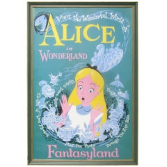 Alice In Wonderland Disneyland Attraction Poster thumbnail 1