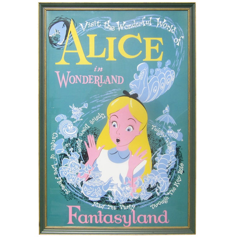 Alice In Wonderland Disneyland Attraction Poster