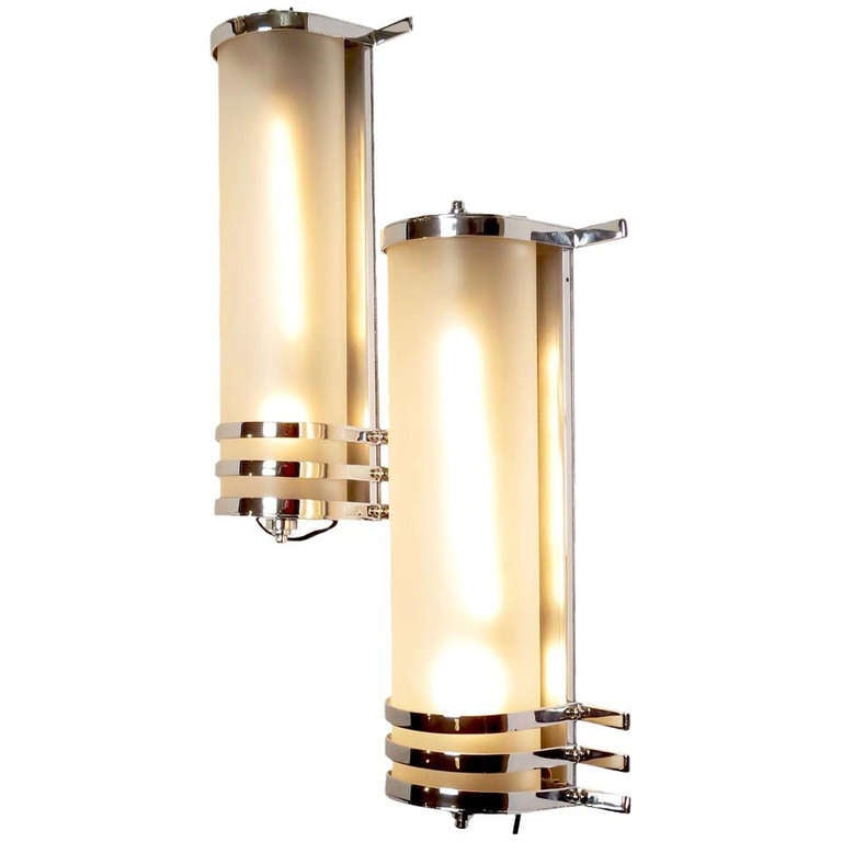 Large Wall Sconces Lighting : Original 1930 s Large Art Deco Wall Sconces from MGM Studios