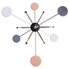 Massive Lighted Atomic Style Wall Clock