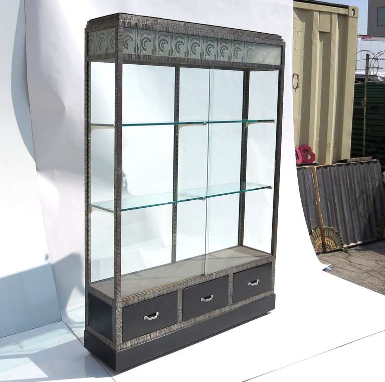 French Art Deco Lighted Display Cabinet - Two Available 2 - French Art Deco Lighted  Display - Lighted Display Cabinets Cymun Designs