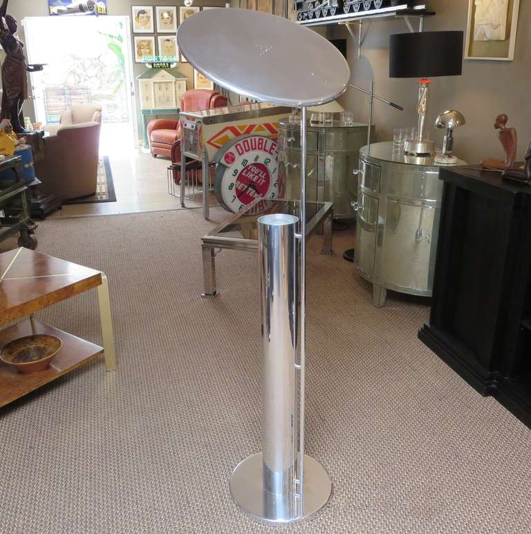 Polished reflector flip top floor lamp after george nelson for sale although the creator of this lamp is unidentified it certainly takes its cue from aloadofball Gallery
