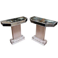 Grosfeld House Mirrored Console Tables
