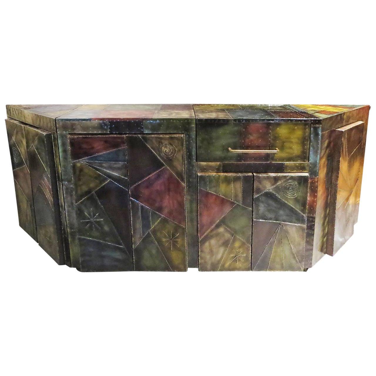 Paul Evans Custom Cabinet with Built in Bar Sink