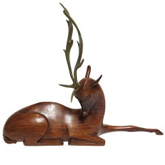Art Deco Deer Sculpture by Karl Hagenauer