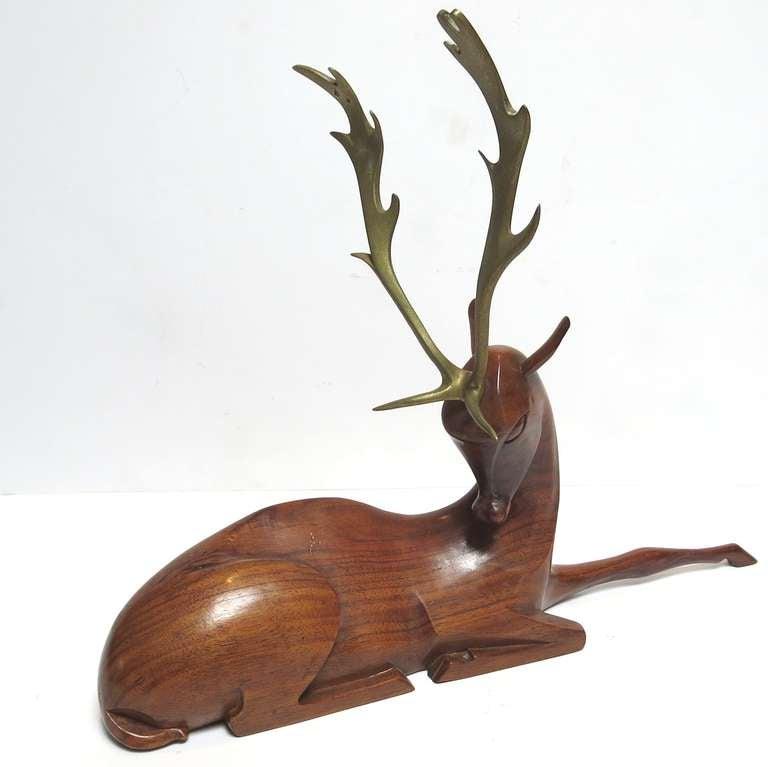 Art Deco Deer Sculpture by Karl Hagenauer 2