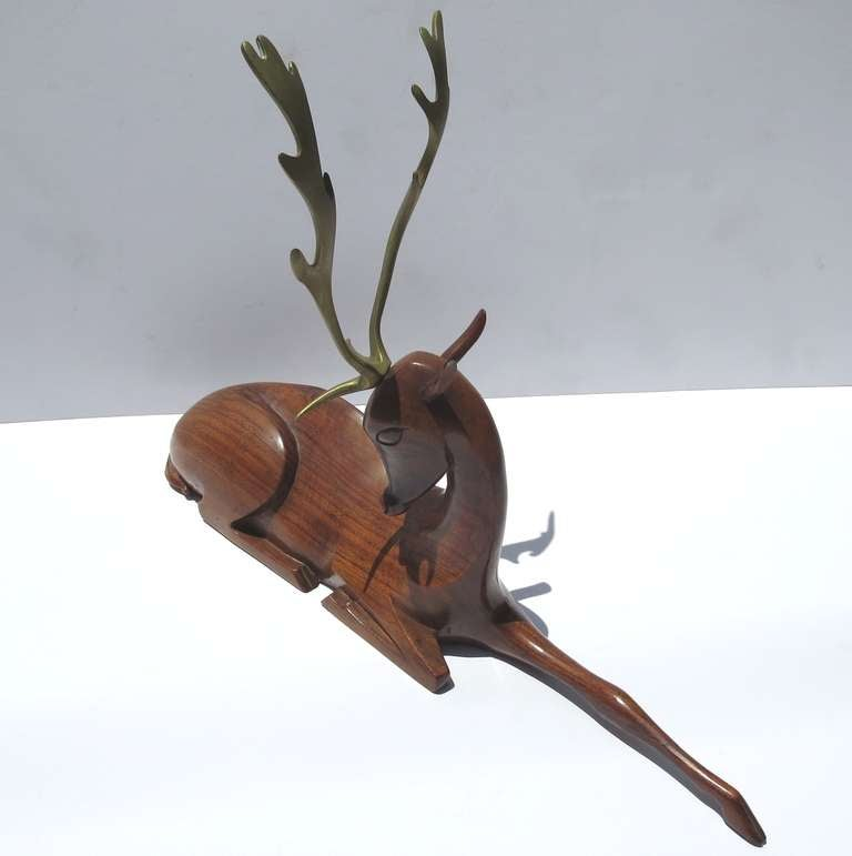 Art Deco Deer Sculpture by Karl Hagenauer 3