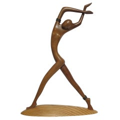 Art Deco Dancer Sculpture by Karl Hagenauer