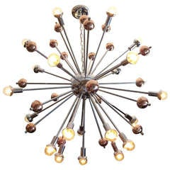 Twenty One Lamp Mid Century Sputnik Chandelier