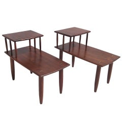 Sam Maloof Walnut End Tables
