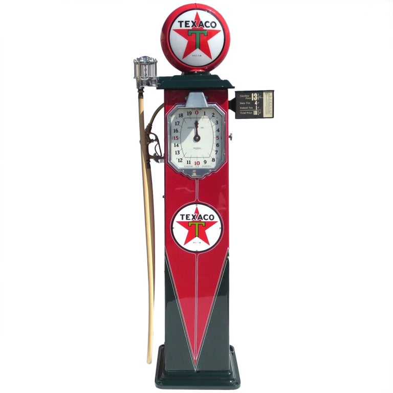 1932 fully restored lighted texaco gas pump at 1stdibs