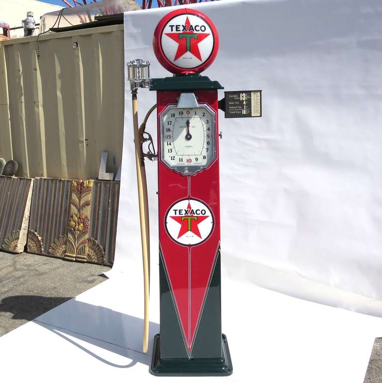 1932 Fully Restored Lighted Texaco Gas Pump image 2