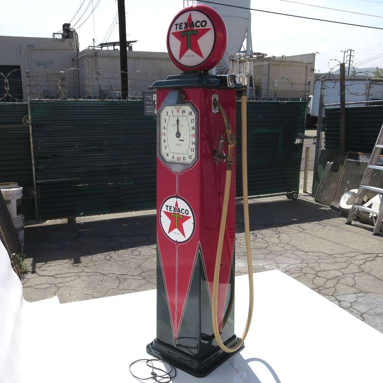 1932 Fully Restored Lighted Texaco Gas Pump image 5