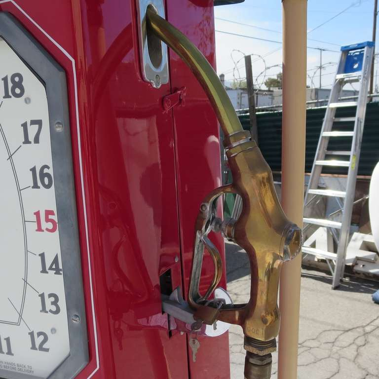 1932 Fully Restored Lighted Texaco Gas Pump image 6