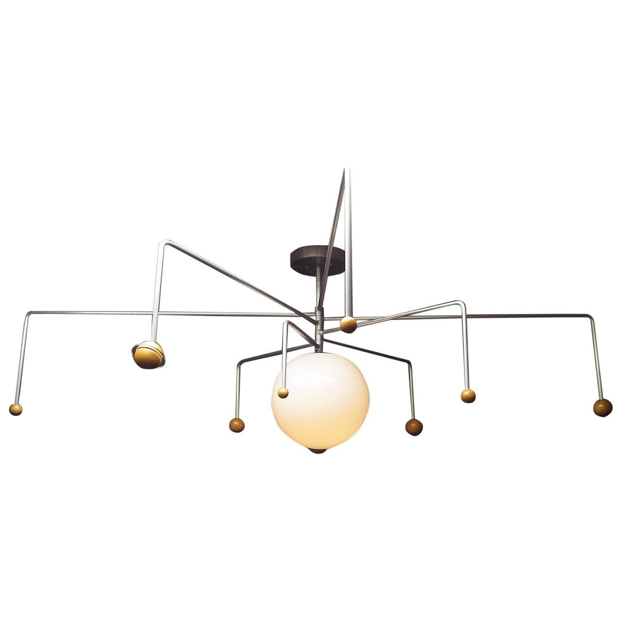 Mid century solar system ceiling lamp at 1stdibs for Mid century ceiling lamp