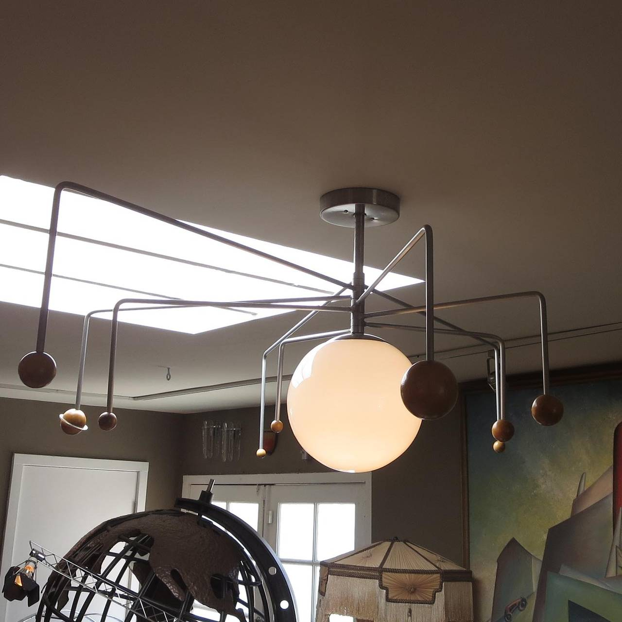 Mid Century Solar System Ceiling Lamp At 1stdibs