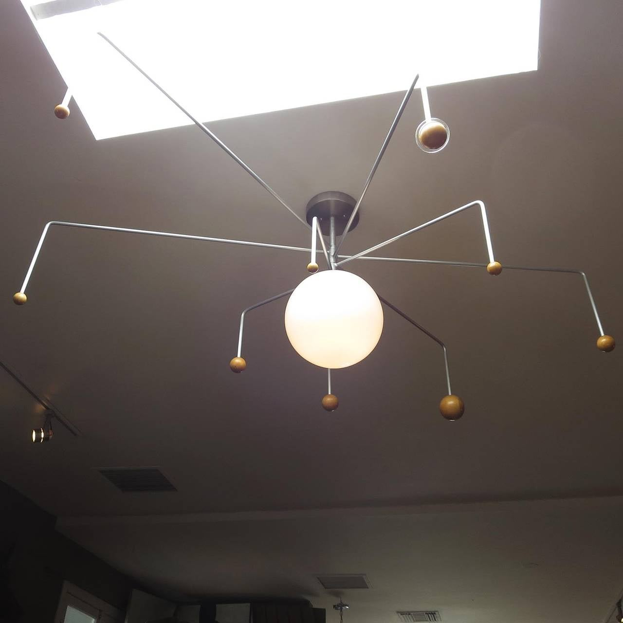 Mid-Century Solar System Ceiling Lamp at 1stdibs