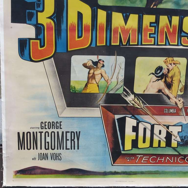 You think that 3D is something new in movies? This 1953 film starring George Montgomery and Joan Vohs was one of the first to utilize the new technology in 1953. Fort Ti, aka