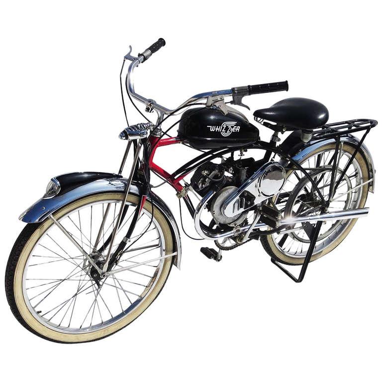 3d860715aa5 1950 Schwinn Motorized Whizzer Black Phantom Bicycle at 1stdibs