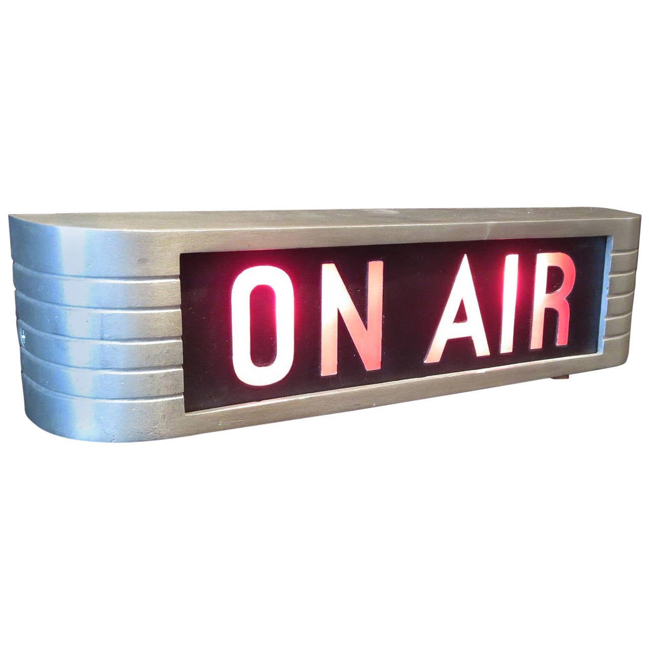 Rca Victor Quot On Air Quot Lighted Recording Sign At 1stdibs