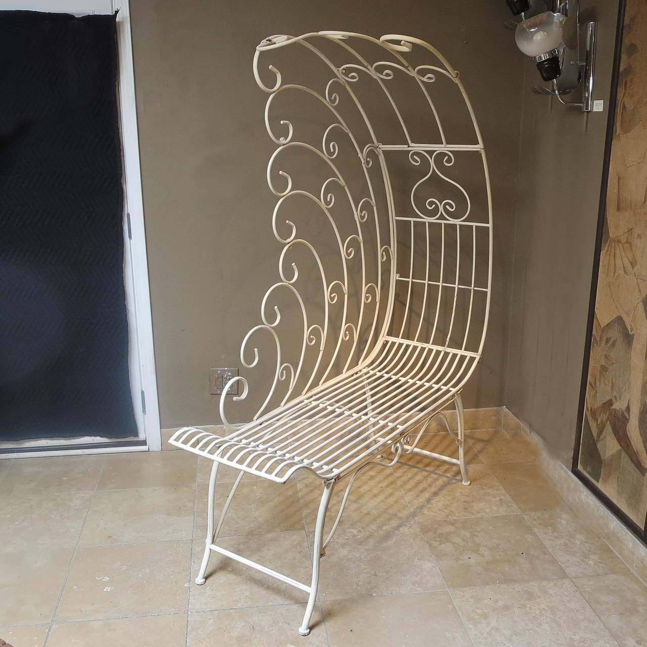 Painted Metal Patio Chaise At 1stdibs