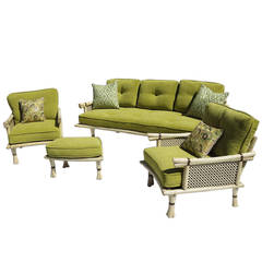 Ritts Company 1960s Six-Piece Asian Inspired Living Room Suite