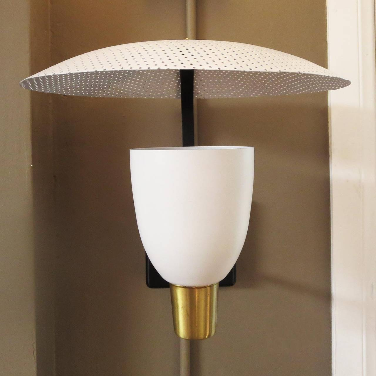 Mid-Century Wall Sconces in the Style of Stilnovo at 1stdibs