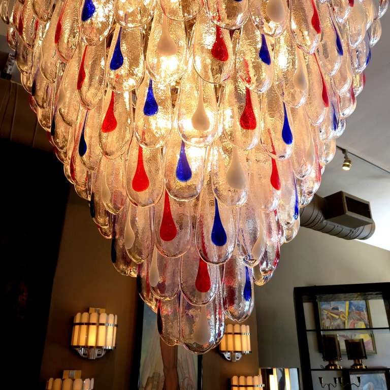Murano Chandelier Color: Massive Multi Colored Murano Glass Chandelier At 1stdibs