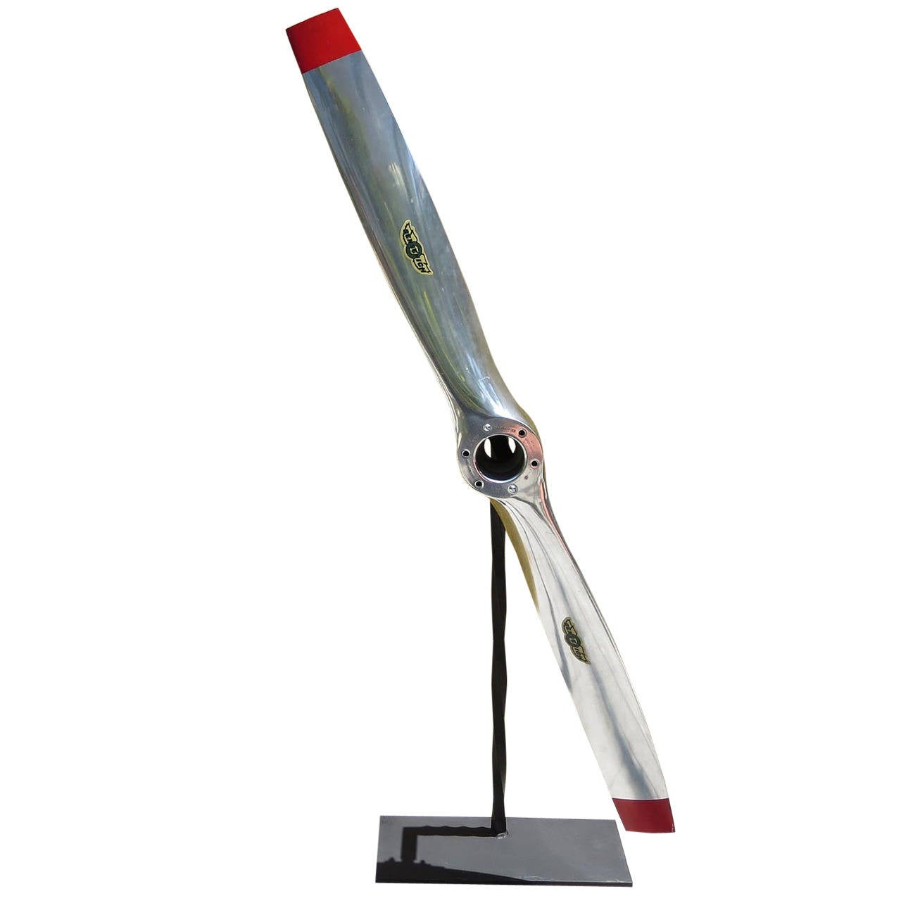 Polished Aluminum Propellor On Display Stand At 1stdibs