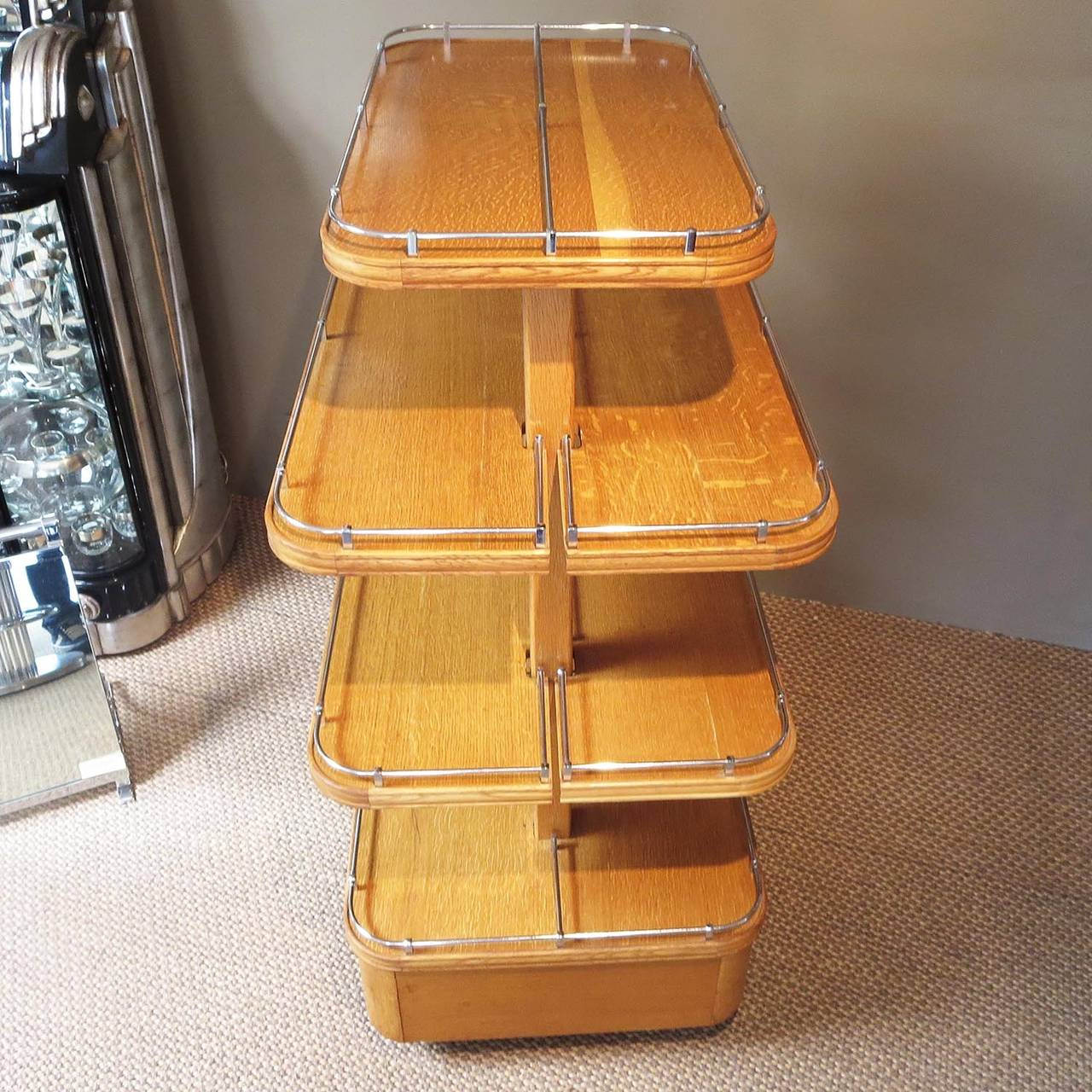 American Ultimate Art Deco Store Shoe Display For Sale