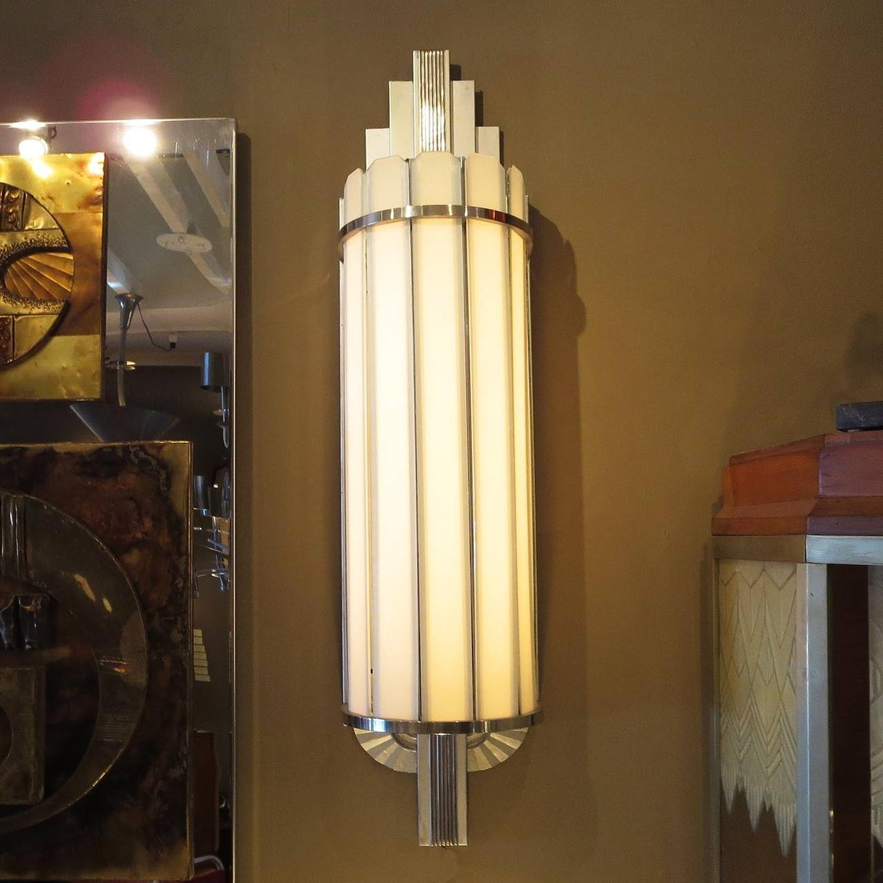 Wall Lights Home Theatre : Art Deco Large Theater Wall Sconces at 1stdibs
