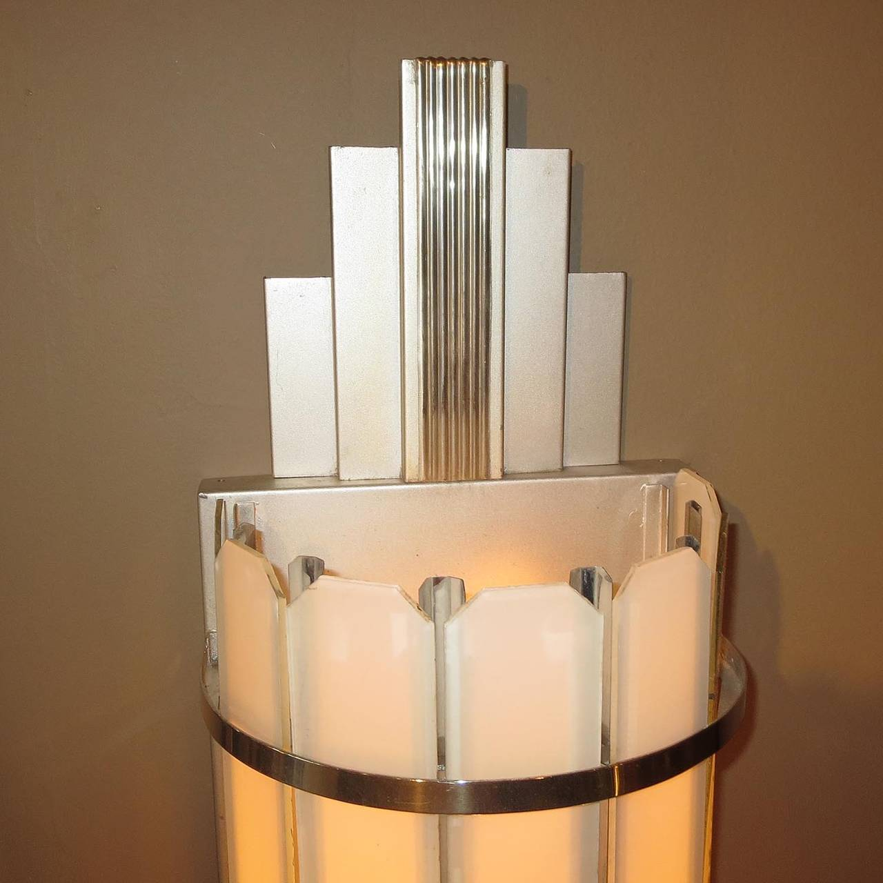 Large Art Deco Wall Sconces : Art Deco Large Theater Wall Sconces at 1stdibs