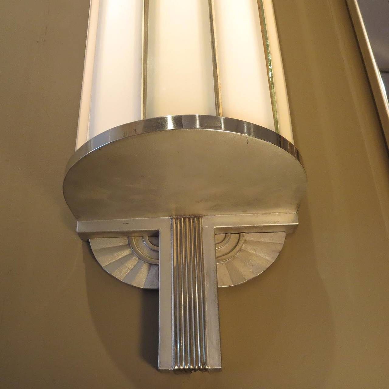 Large Wall Sconces Lighting : Art Deco Large Theater Wall Sconces at 1stdibs