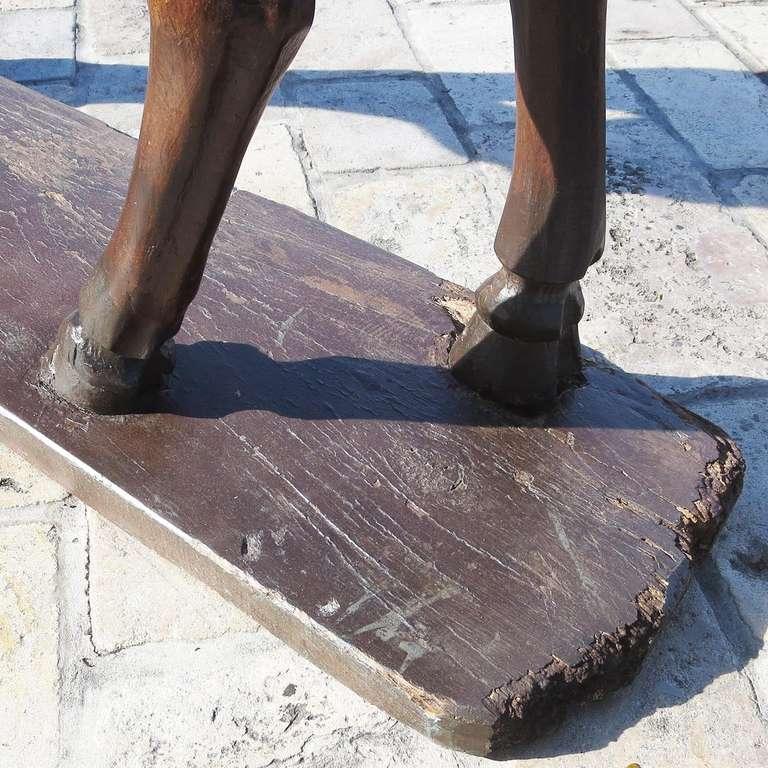 Amazing Large Carved Wood Centaur -ess Folk-art Sculpture For Sale 1
