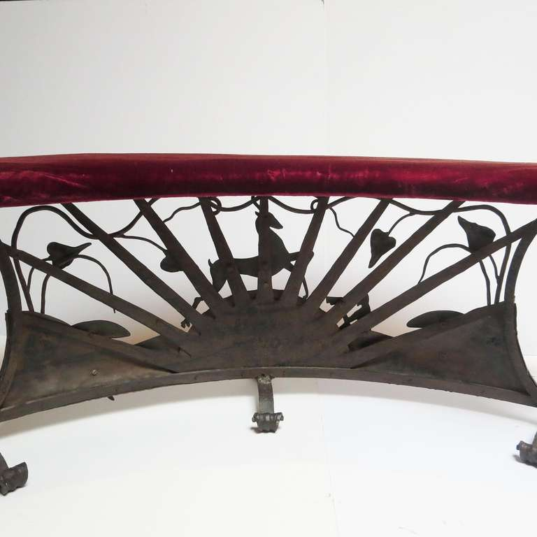 Hearth Bench: Craftsman Hearth Bench In The Manner Of William Hunt