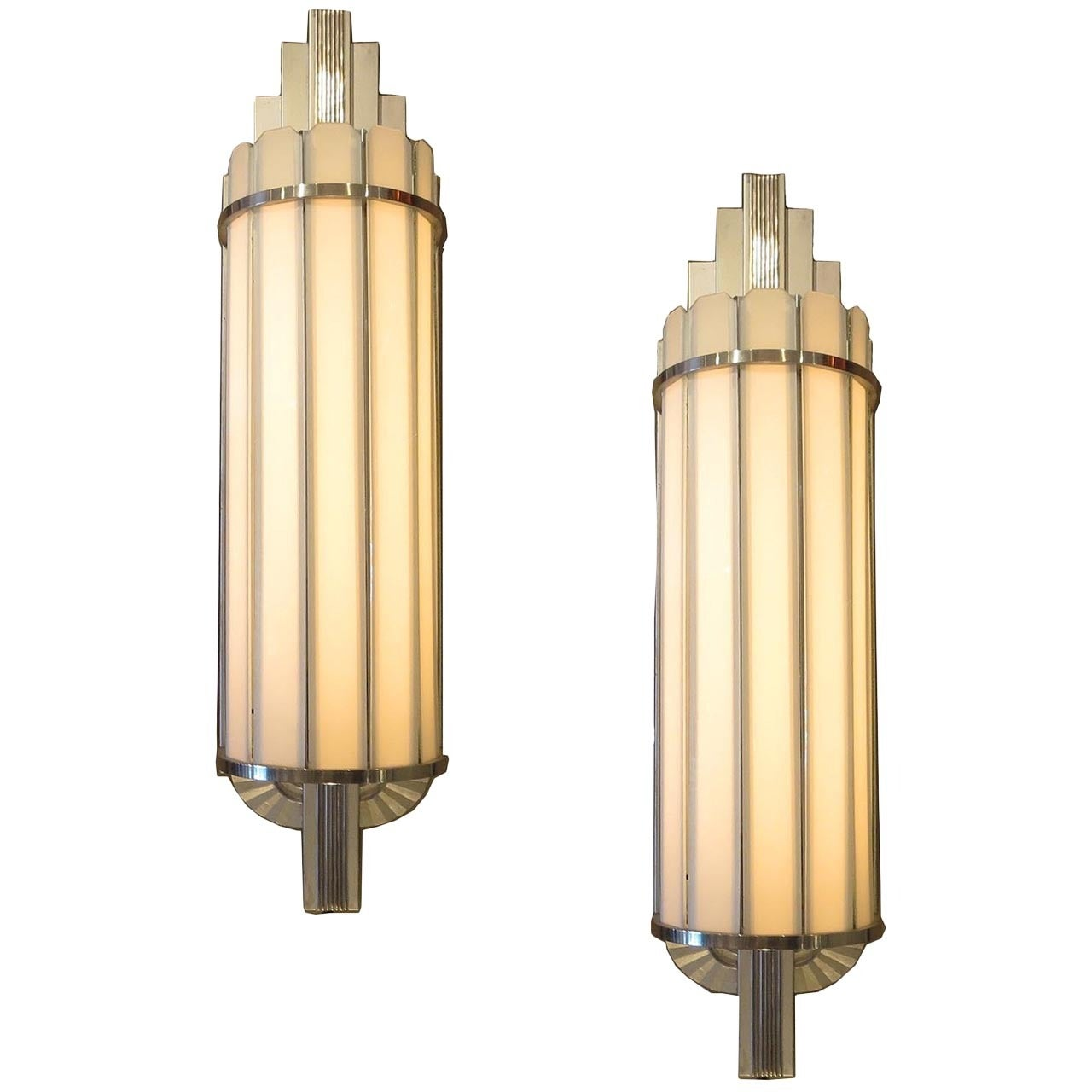 Art Deco Large Theater Wall Sconces at 1stdibs