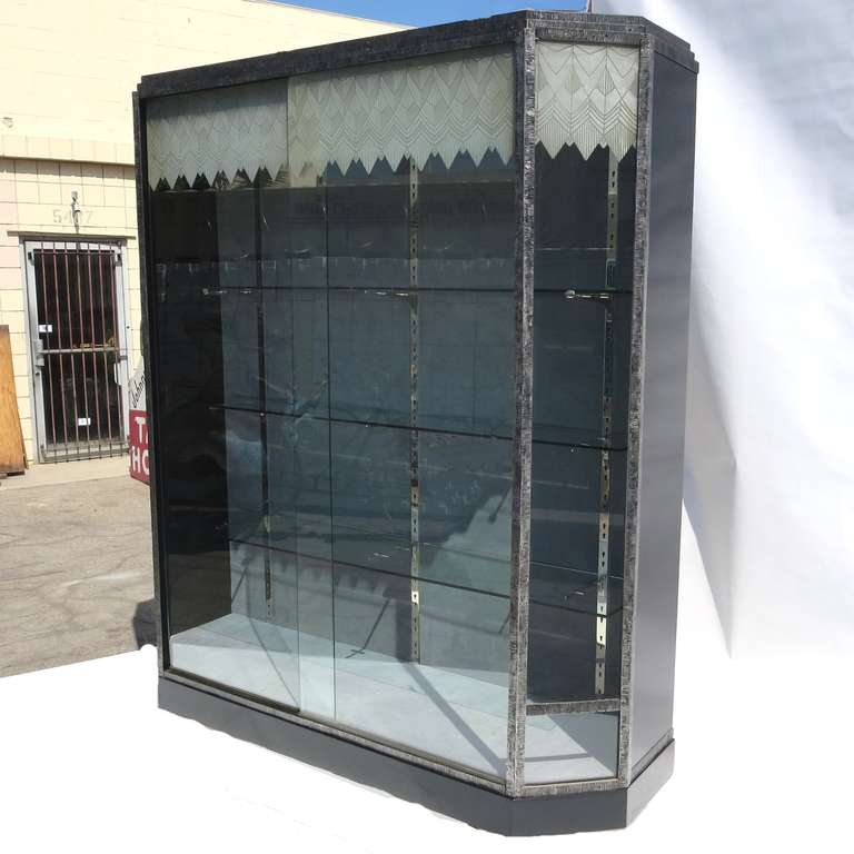 Art Deco Showcase With Lalique Glass Doors For Sale At 1stdibs