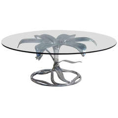 "Arthur Court ""Lily"" Coffee Table in Polished Aluminum"