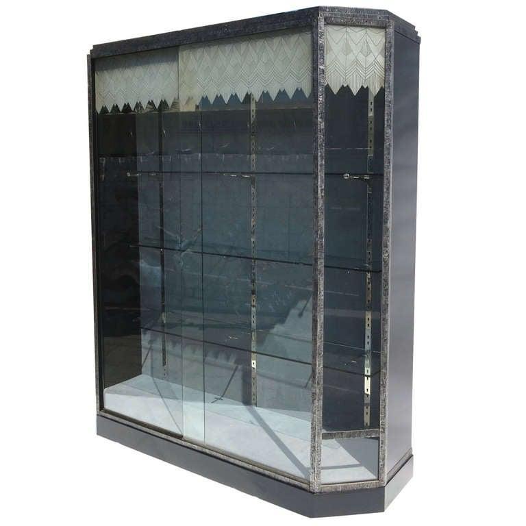 Amazing Showcase Glass Doors #10: Art Deco Showcase With Lalique Glass Doors 1