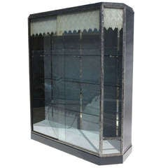 Art Deco Showcase with Lalique Glass Doors