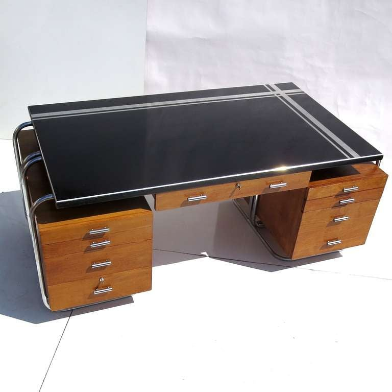 Art Deco Desk from New York City Woolworth's at 1stdibs