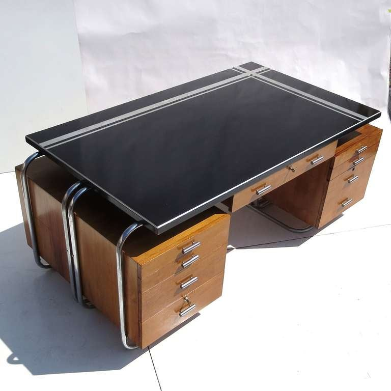 Art Deco Desk From New York City Woolworths At 1stdibs