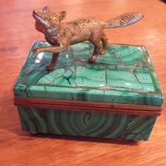 Malachite and Bronze Jewelry Box