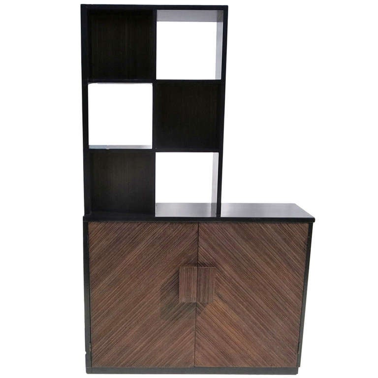 Stepped Room Divider Cabinet Attributed to Paul Frankl
