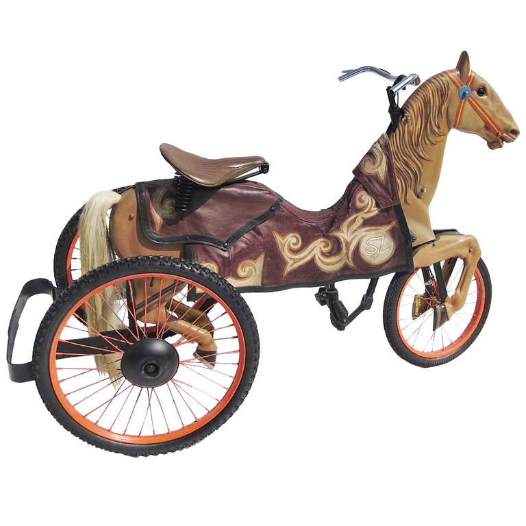 adult size carnival horse racing bike for sale at 1stdibs. Black Bedroom Furniture Sets. Home Design Ideas