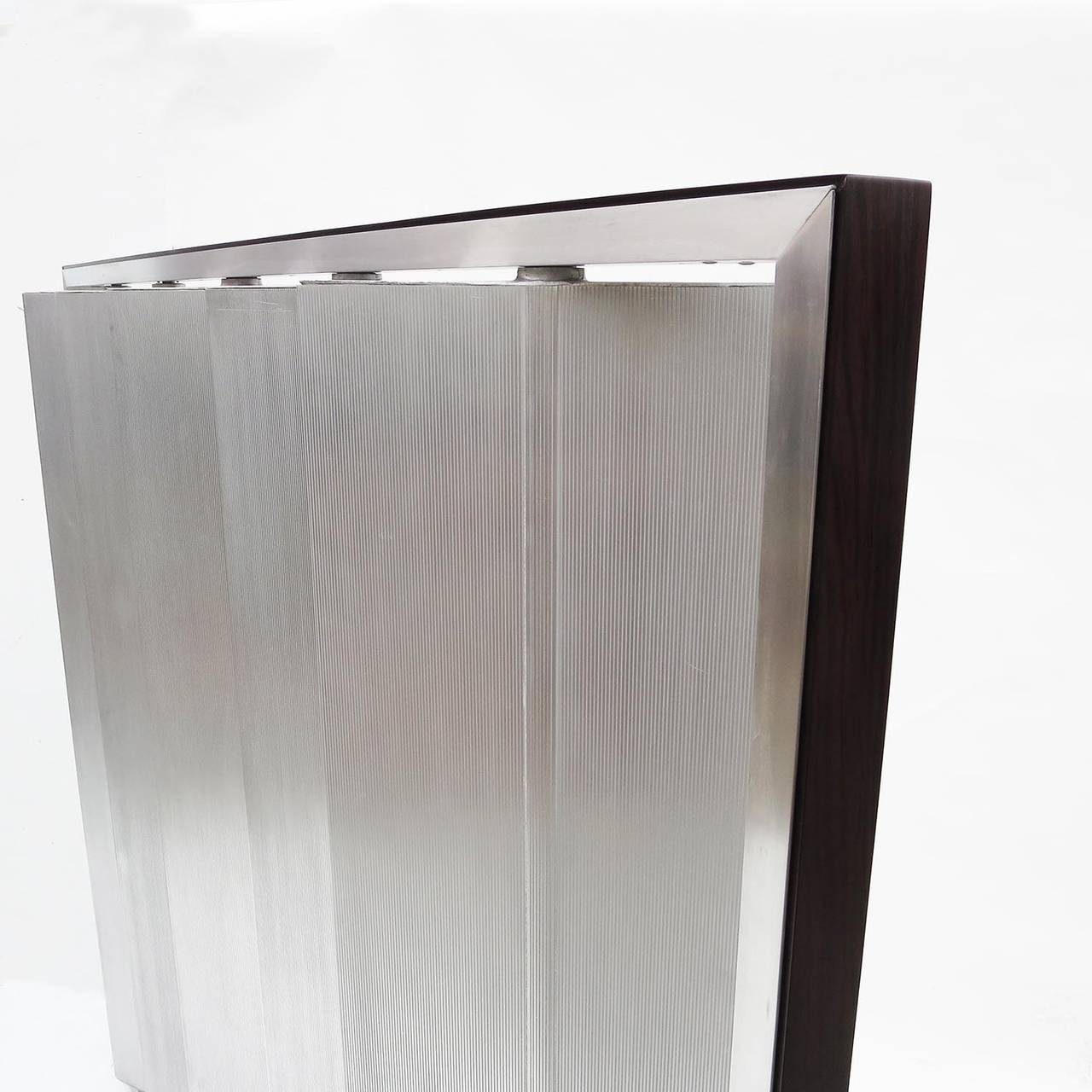 Contemporary Louvered Metal Room Divider in the Manner of Jean Prouvé For Sale