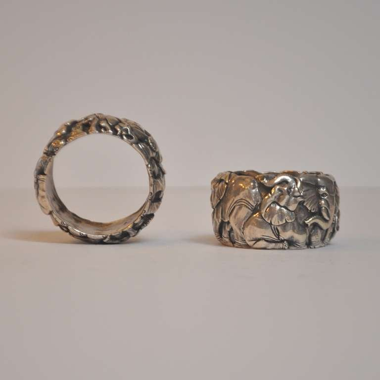 signed sterling silver elephant napkin rings at 1stdibs