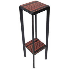 Art Deco Zebrawood Pedestal or Plant Stand